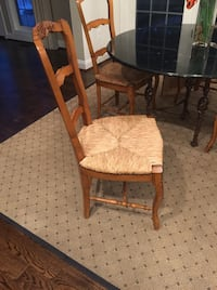brown wooden frame brown padded chair Washington, 20007