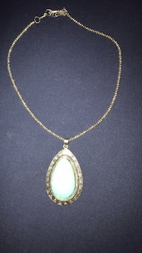 necklace with stone pendant
