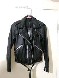 black leather zip-up jacket Oakland, 94601