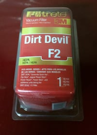 Dirt Devil Vacuum Filter F2 For Sale - New