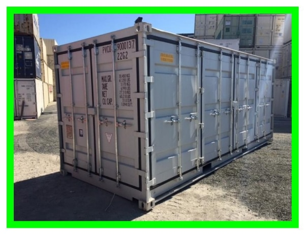 used and new container metal storage with cargo doors for sale