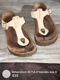 Birkenstocks BETULA*Sandals size 6 barely used great condition London, N5W 1E8