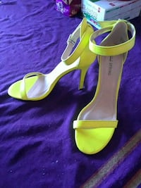 Lime green/ yellow pumps from spring Edmonton, T5R