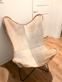 Genuine Hair-On Leather Butterfly Chair OBO