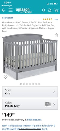 Graco 4 in 1 Crib Reisterstown, 21136