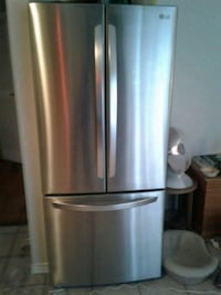 silver French-door refrigerator Abbotsford, V4X 1P3