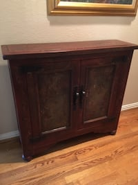 Two Door Hand Painted Accent Cabinet