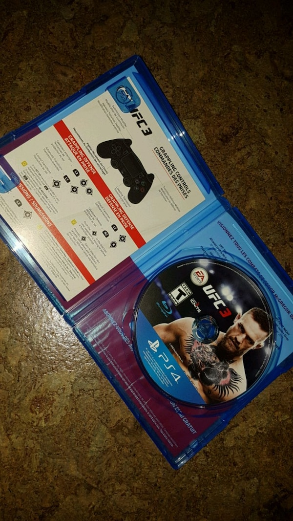 UFC 3 for PS4 (Excellent condition only $15) 1