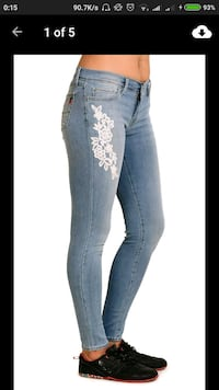 White lace printed jeans Thane, 400606