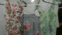 white and green floral sleeveless top Yakima, 98902