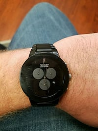 Citizens Eco-Drive mens black watch At8040-57e Roseville, 48066