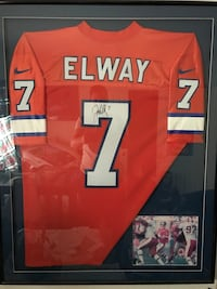Authentic Elway Jersey. 2 Autographs  1475 mi