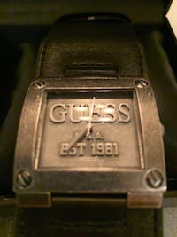 Guess Watch Men's with Leather Band/Box.. Henderson, 89002