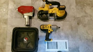 Power tools and a speaker box