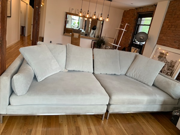 Sold Extra Deep Gray Sofa In New York