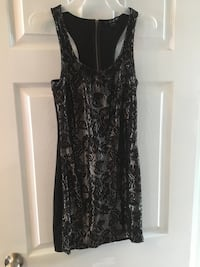 black and gray floral sleeveless dress Windsor, N8T 2S2