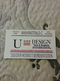U-DESIGN TEES  I MAKE  Washington, 20002