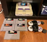 Original Super Nintendo with 2 controllers and 6 games New York, 11238