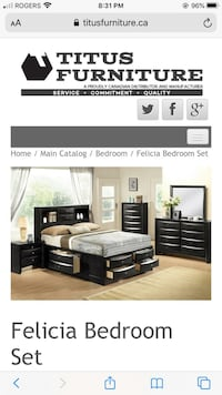 Very nice solid wood bedrooms set  Toronto, M9V 3Y7