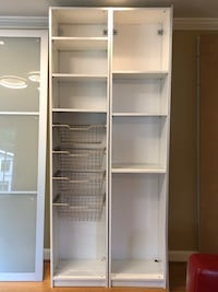 IKEA stand alone closet/shelving unit. Sliding glass doors. Second double width unit not assembled   Arlington, 22201