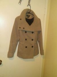 brown and white button-up coat Edmonton, T5T 2N9