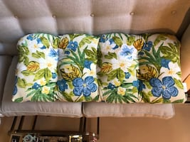 New Price!  Lovely Reversible Floral Bench Pad
