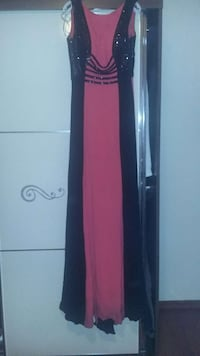 Women's black and pink long dress