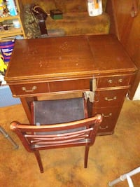 Antique Sewing Desk with Chair