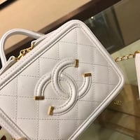 white and brown leather 2-way bag Лос-Анджелес, 91411