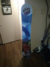 white and blue snowboard with bindings London, N6K 2S5