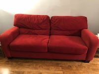 Red fabric sofa and loveseat set Wauwatosa, 53213