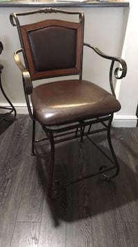 black metal frame brown leather padded chair Centreville, 20120