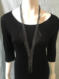 Gunmetal grey long necklace  Kelowna, V1Y 4T2