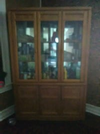 brown wooden framed glass display cabinet Decatur, 62522