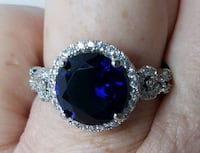 Sterling silver sapphire ring  Baltimore, 21224