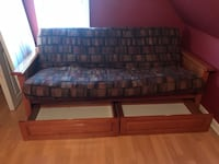Solid wood futon with draws Piscataway, 08854