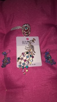 Colourful Brooch, Ring and Earrings ser Edmonton, T5Y