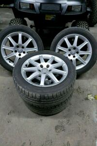 four gray 5-spoke vehicle wheels and tires Longueuil, J3Y 8Y9