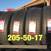4 used tires 205/50/17 Continental