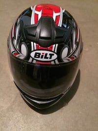 black and red HJC full-face helmet Falls Church