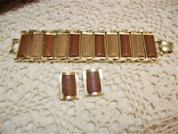 Vintage Real Wood Inlay Bracelet Fraziers Bottom