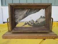 sand art with brown frame Tacoma