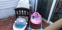 Walker bassinet and chair with music and vibration