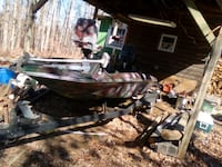 16ft with a 55 horse motor $1400 runs great motor fresh build  Clarkesville, 30523