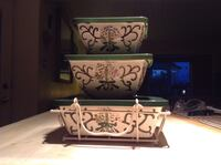 Ceramic serving Dishes with Lids and Serving Rack Calgary, T3E 2S9