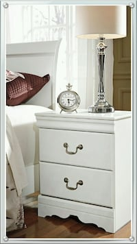 Anarasia White Nightstand  Houston, 77036