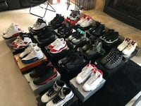 Assorted pairs of air jordan basketball shoes Fayetteville, 28314