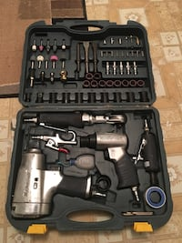 Grey and black impact wrench set