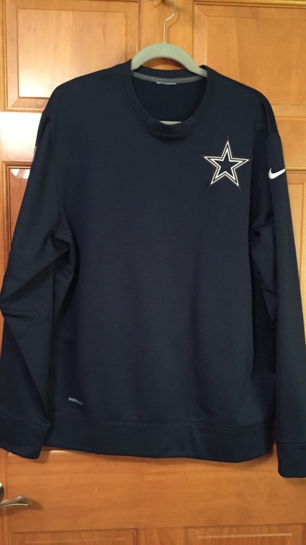 low priced 9c0c0 3703a Blue dallas cowboys nike sweater