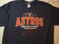 Houston Astros Script Lettering Shirt Little Rock
